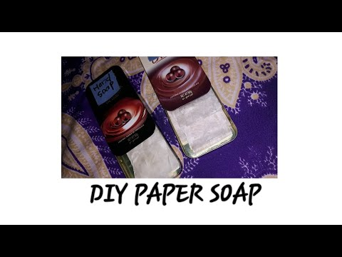 DIY.....paper soap...❤/AAA CRAFTERS.