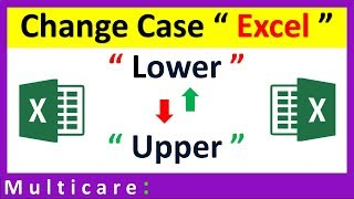 how to change case in excel