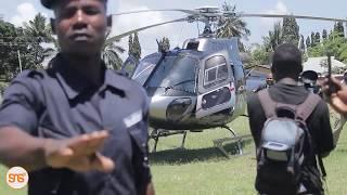 Maulid Kitenge, Edo Kumwembe, Yusuph Mkule walivyoshushwa na Helikopta kuelekea Wasafi Headquarters