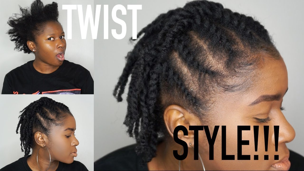 Short Hairstyles 2019 Natural Hair: Quick & Easy Flat Twist Protective Style On My Short Fine