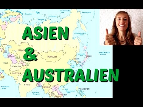 German Country Names of ASIA and AUSTRALIA 🌏🌏🌏