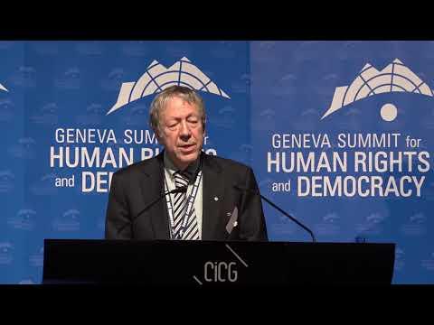 Irwin Cotler on Venezuela at Geneva Summit 2018