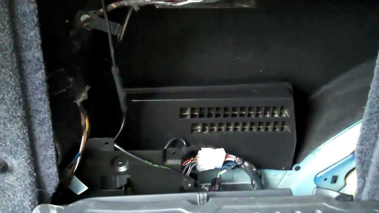 Range Rover L322 Audio Amp Location - YouTube