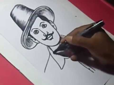 How To Draw Shahid Bhagat Singh Drawing Step By Step Youtube