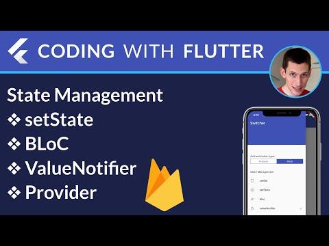 Flutter State Management: setState, BLoC, ValueNotifier, Provider
