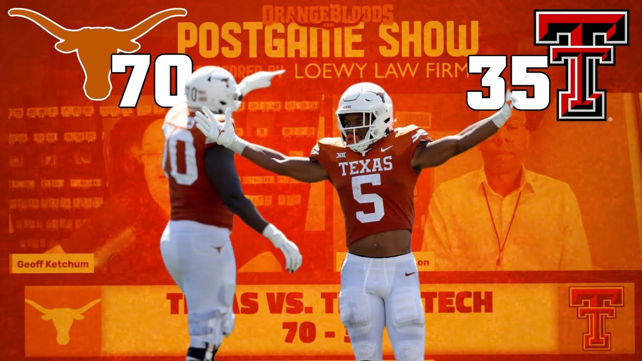 Download Texas Football Postgame with Ketch and Anwar on the Longhorns victory vs Texas Tech and Casey Tho...