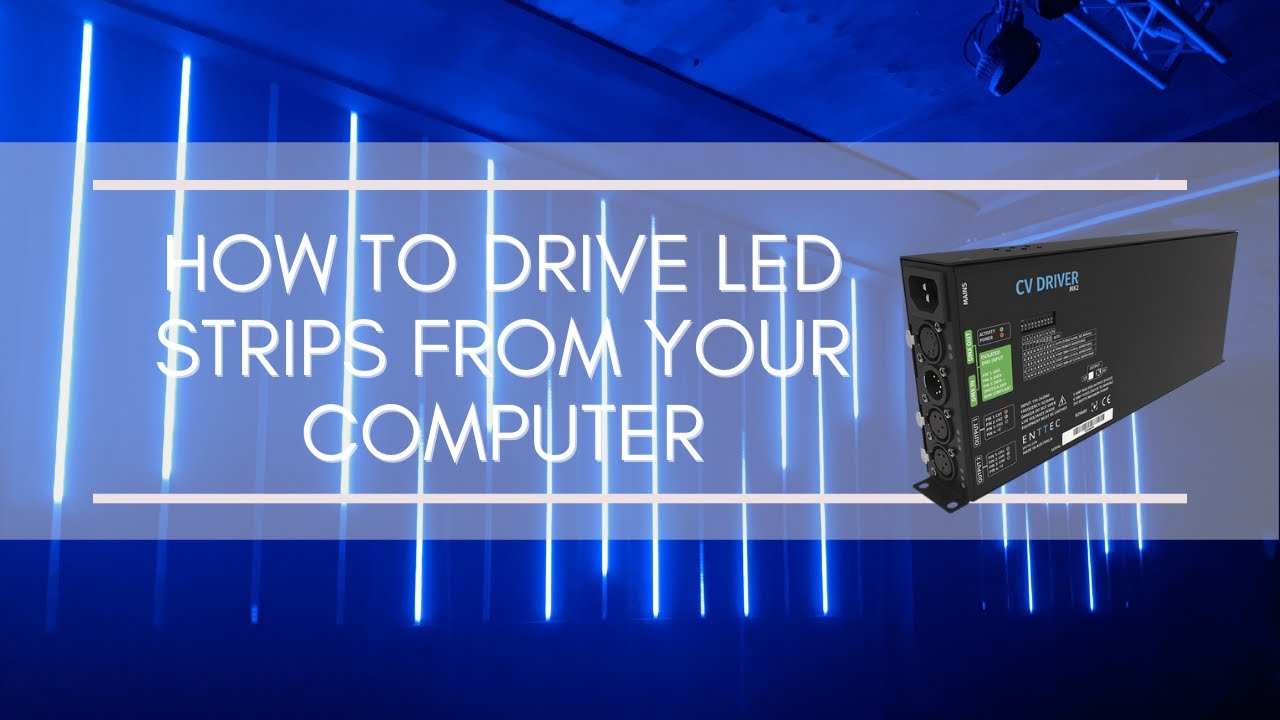 How To Drive Led Strips From Your Computer Pc Or Mac Youtube Drives 10 Leds