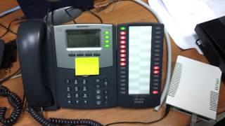 Cisco attendant console call