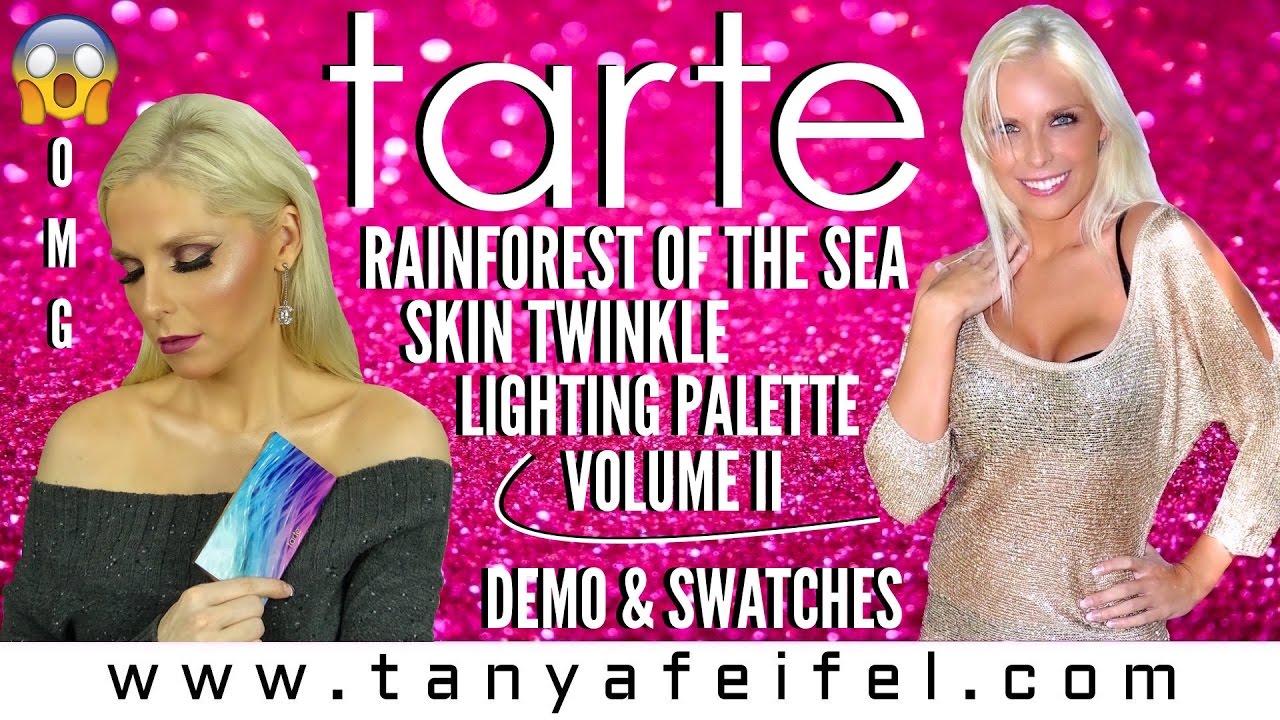 Tarte Skin Twinkle Lighting Palette Volume Ii Demo Swatches Tanya Feifel Rhodes