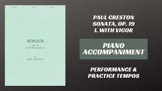 Paul Creston – Sonata Op. 19, mvt. I (Piano Accompaniment)