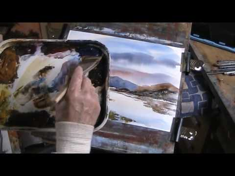Highland reverie   One brush painting in watercolour