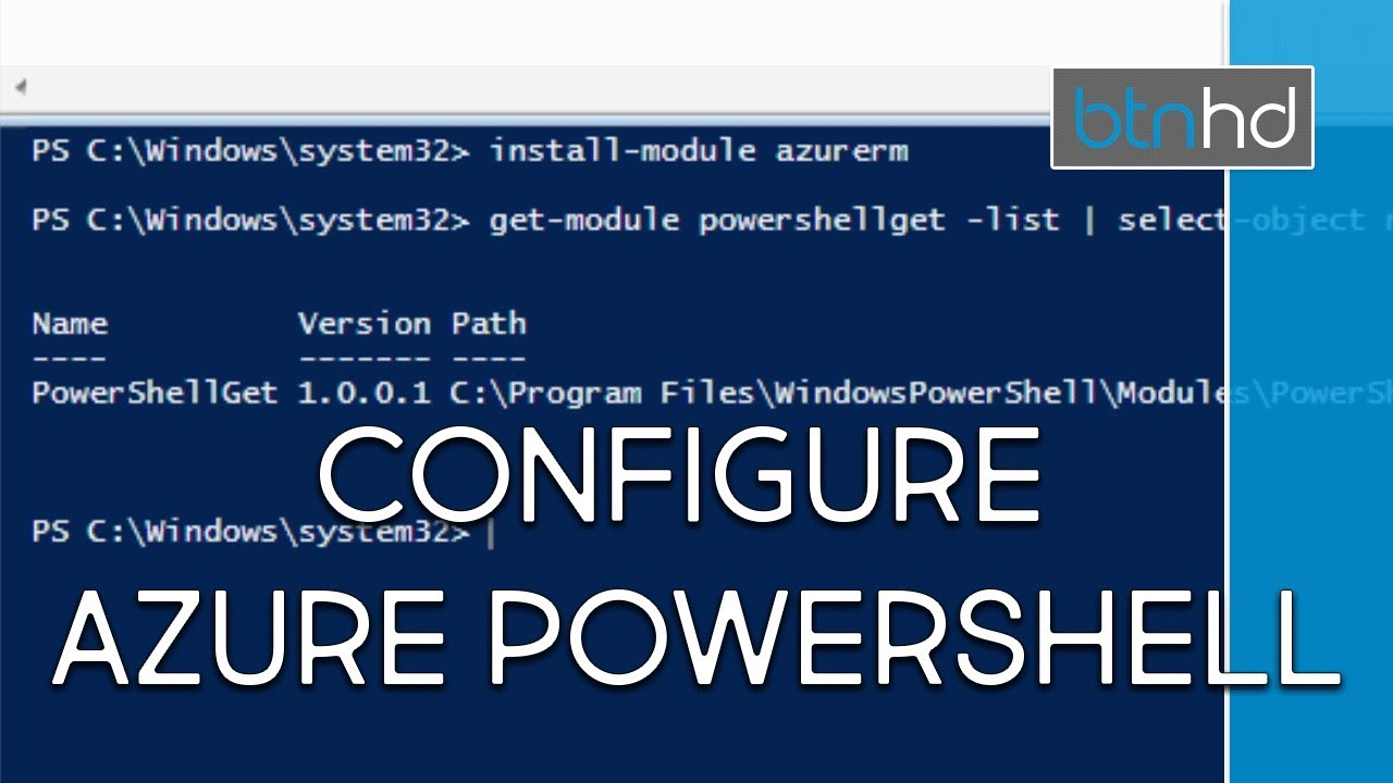 Install and Configure Azure PowerShell!