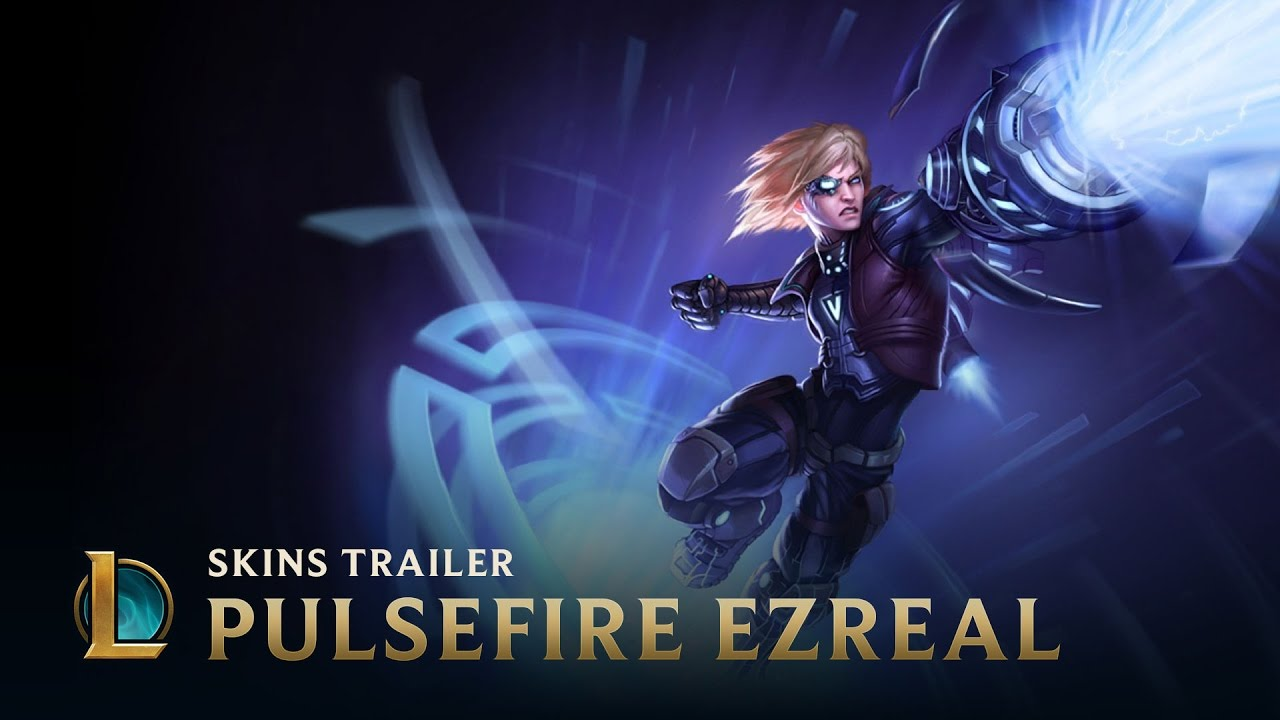 Pulsefire Ezreal skin for League of Legends changes as you