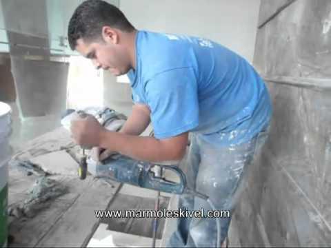 Preparaci n para instalar fuente de m rmol sobre muro - Fuente de pared ...