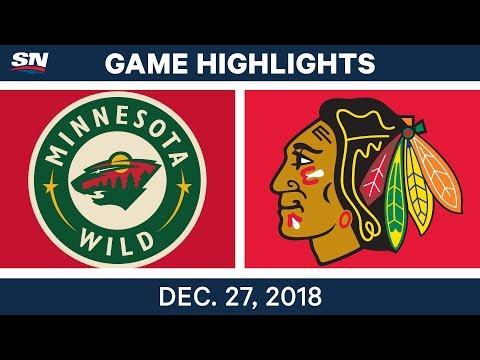 NHL Highlights | Wild vs. Blackhawks - Dec 27, 2018