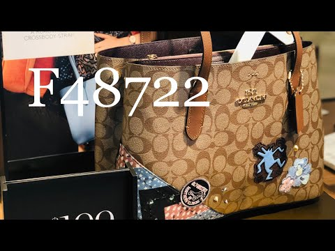 COACH ☜SHOPPING☞ F48722 KEITH HARING AVENUE CARRYALL