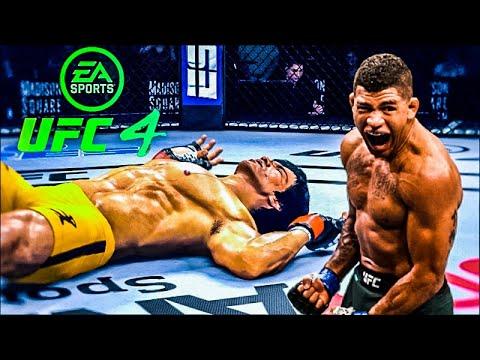 Download BRUCE LEE VS GILBERT BURNS   UFC 4 BRUTAL FIGHT   UFC 4   UFC 4 2021   EA SPORTS UFC 4