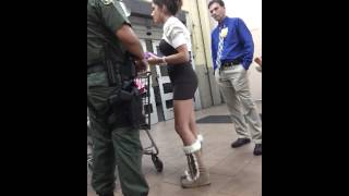 Chick got caught shoplifting n left her baby