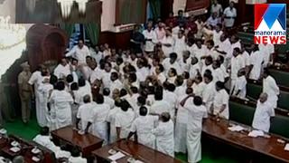 Tamil Nadu assembly Speaker P Dhanapal orders to evict DMK MLAs  | Manorama News
