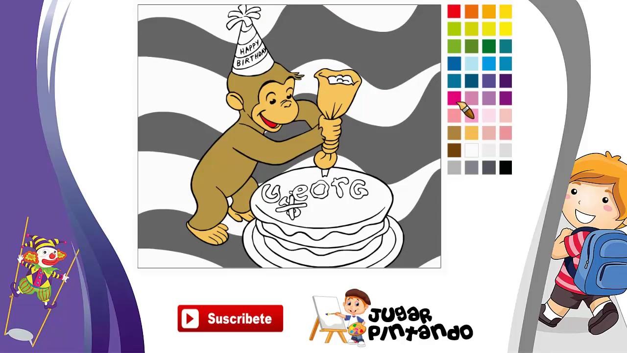 Jorge Curioso Cumpleaños - Juego de Colorear Online Gratis para ...