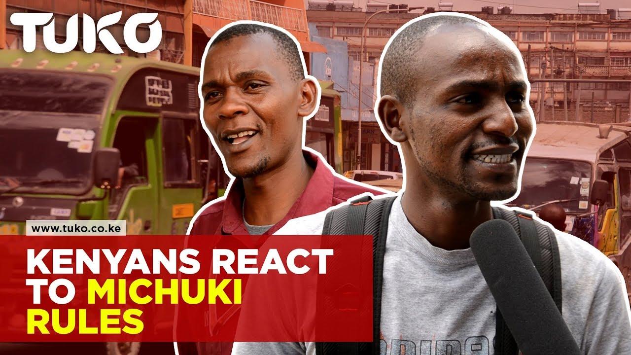 Kenyans React To Reinforcement of Michuki Rules | Tuko TV