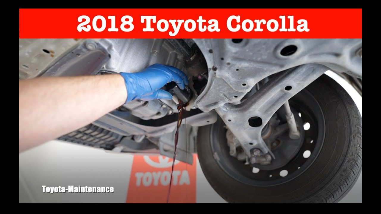 2018 Toyota Corolla engine oil and filter change