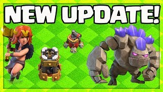 UPDATE! Clash of Clans HOME Village NEW Valkyrie, Golem, Bomb Tower, Air Sweeper Levels!