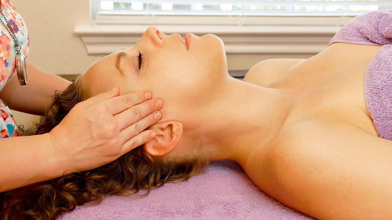 Afslappende ansigt, hovedbundsbaseret massage til hovedpine, hvordan-1757