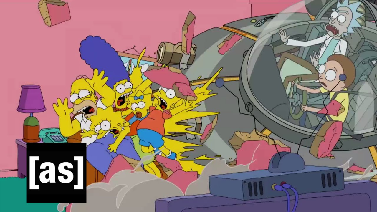 Big Bang Couch Gag The Simpsons Watch Rick And Morty Kill The Cartoon Family In