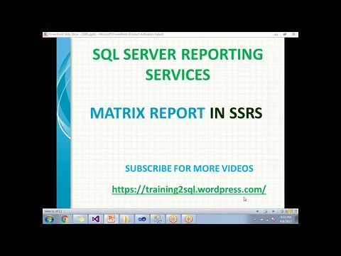 Create matrix report in ssrs