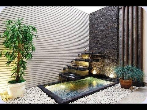 variasi kolam dan taman di halaman rumah moderen minimalis