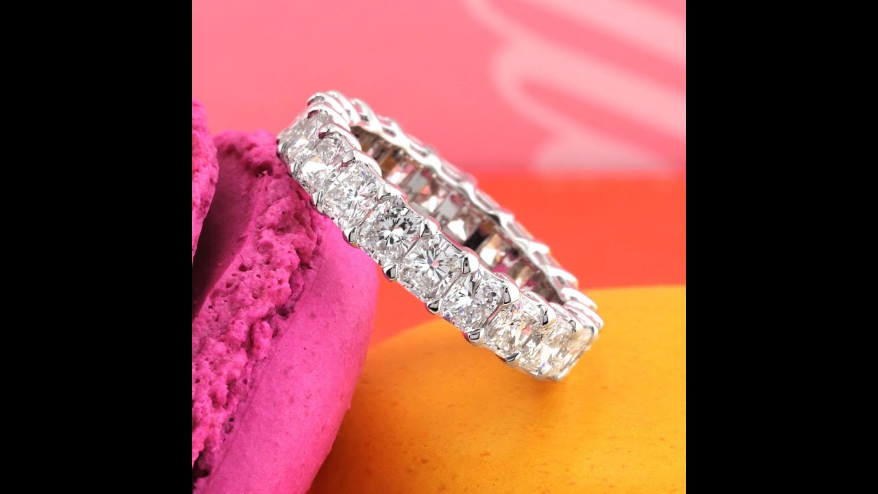 Mark Broumand - 4.35ct Radiant Cut Diamond Eternity Band in 18k ...