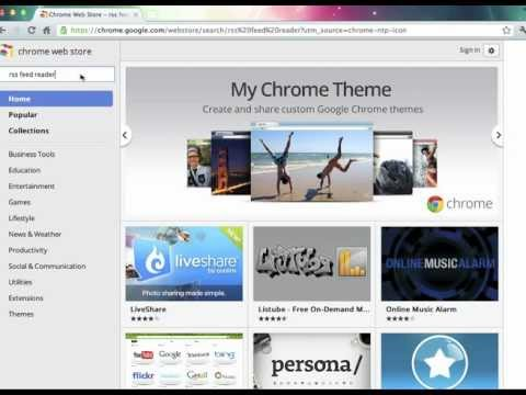 Google Chrome RSS reader tutorial.mov