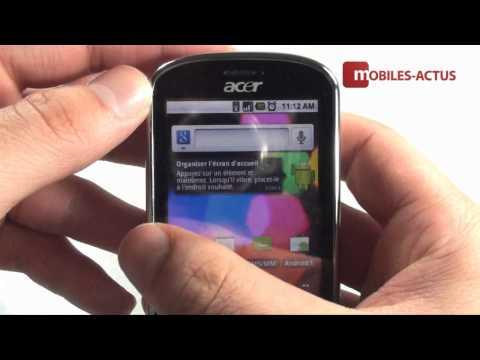 Acer beTouch E140 - Démo vidéo, revue, prise en main