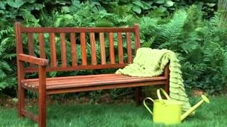 Coral Coast Richmond Straight Back 4 Ft  Outdoor Wood Bench - Product Review Video