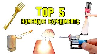 ✔ TOP 5 Best Homemade Experiments