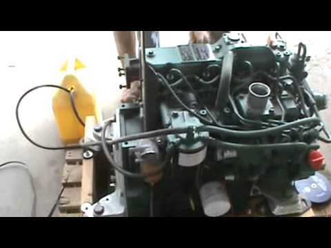 2011 Volvo D2.2DCAE3 4 Cylinder Yanmar Engine Out Of EC35 Mini Excavator For Sale - YouTube