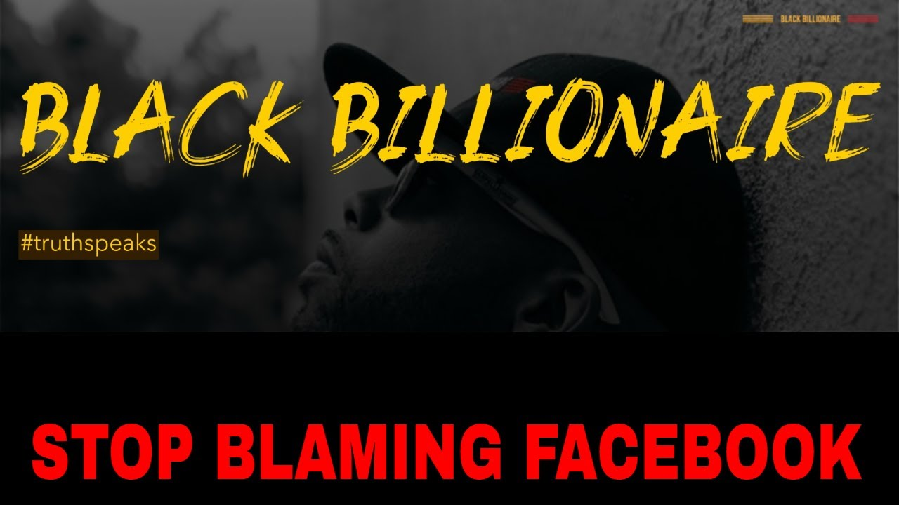 Stop Blaming Facebook
