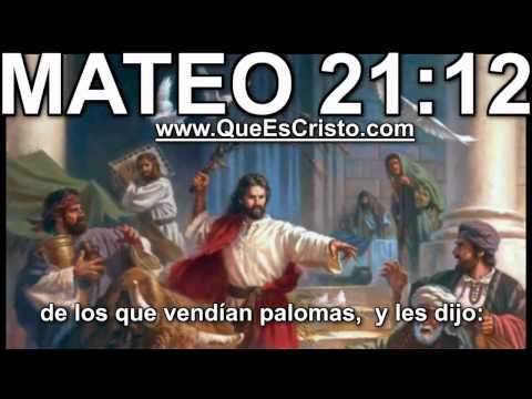 Mateo 21:12 Cristo Jesus en Biblia|Parabola TV Jesus Cristo Mateo 21:12 HD Historia from YouTube · Duration:  23 seconds
