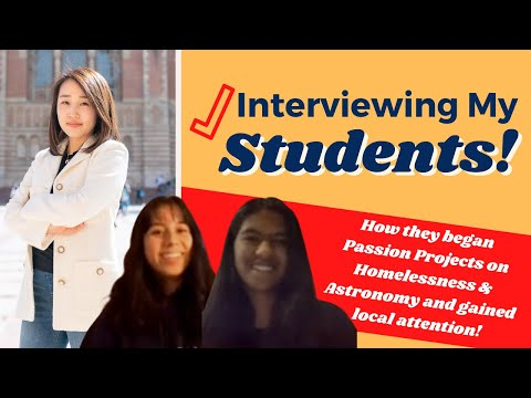 Interviewing my Ivy League Formula Program students!
