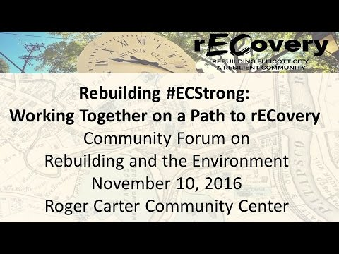 Ellicott City Community Recovery Meeting November 10, 2016