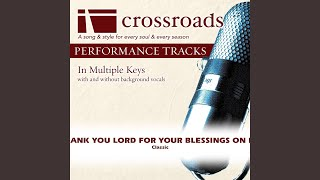 Thank You Lord For Your Blessings On Me (Performance Track High with Background Vocals in Eb)
