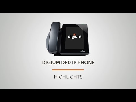 Digium D80 IP Phone Highlights | Touchscreen Executive Phone