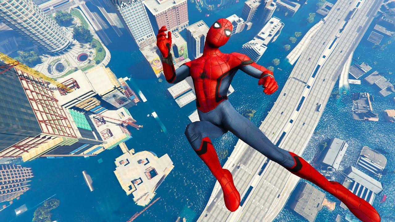 GTA 5 Spiderman Ragdolls   Fails Compilation #13 (Euphoria Physics, Jumps, Funny, Epic Moments)