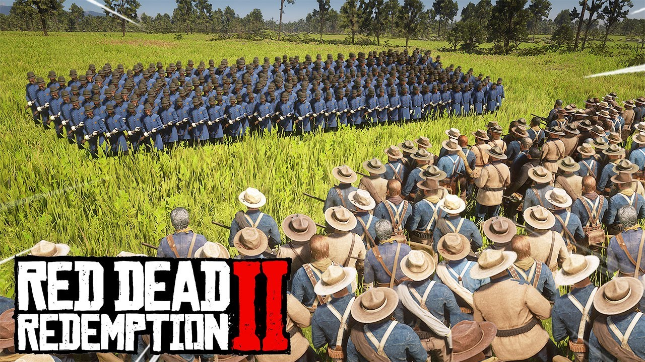 Red Dead Redemption 2 - BIGGEST BATTLE IN RED DEAD HISTORY! thumbnail