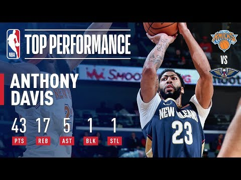 Anthony Davis Displays His Dominance 43 POINTS & 17 REBOUNDS Against New York | November 16, 2018