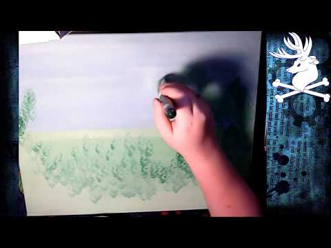 Painting - Japanese Teahouse - part 1