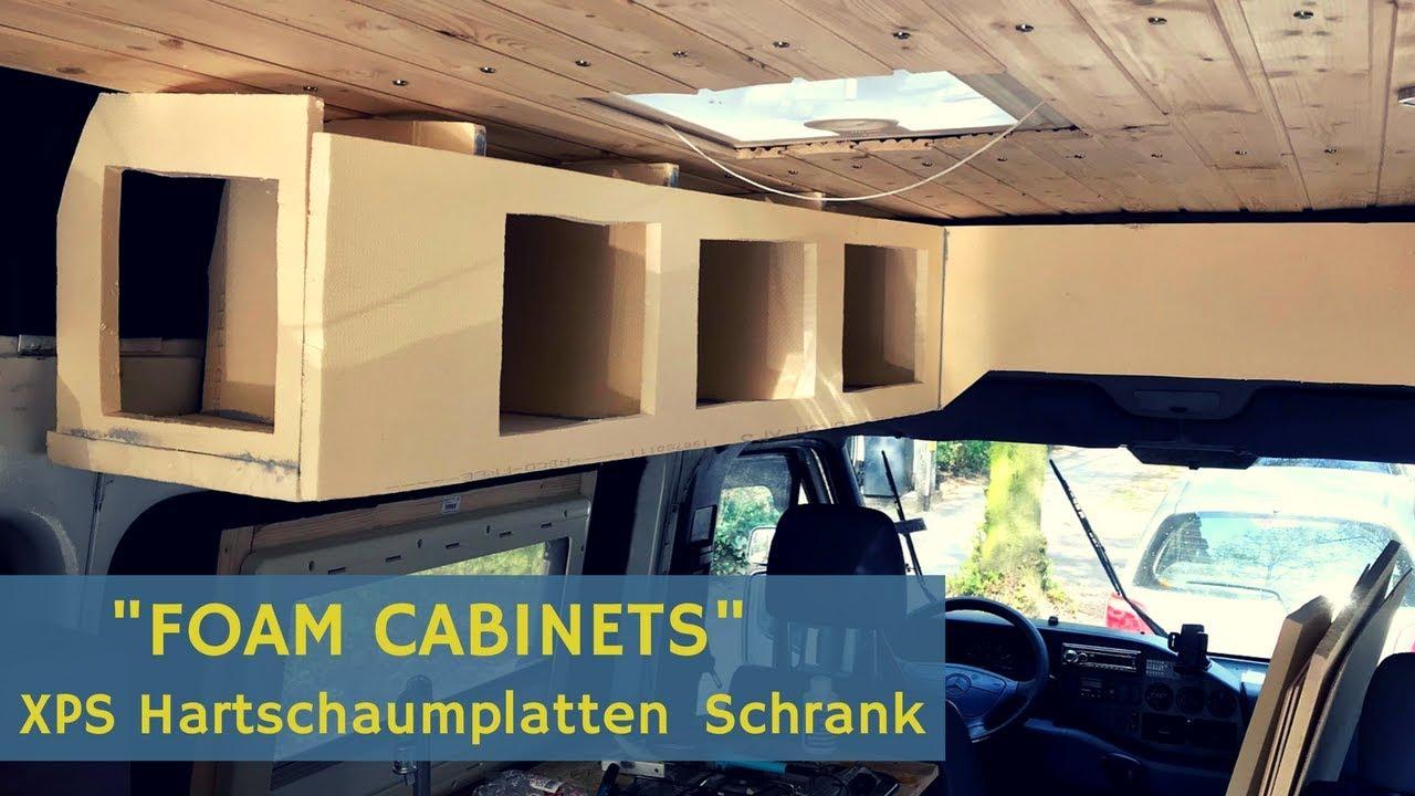 Wohnmobil Schrank aus XPS Hartschaumplatten bauen (Foam Cabinets
