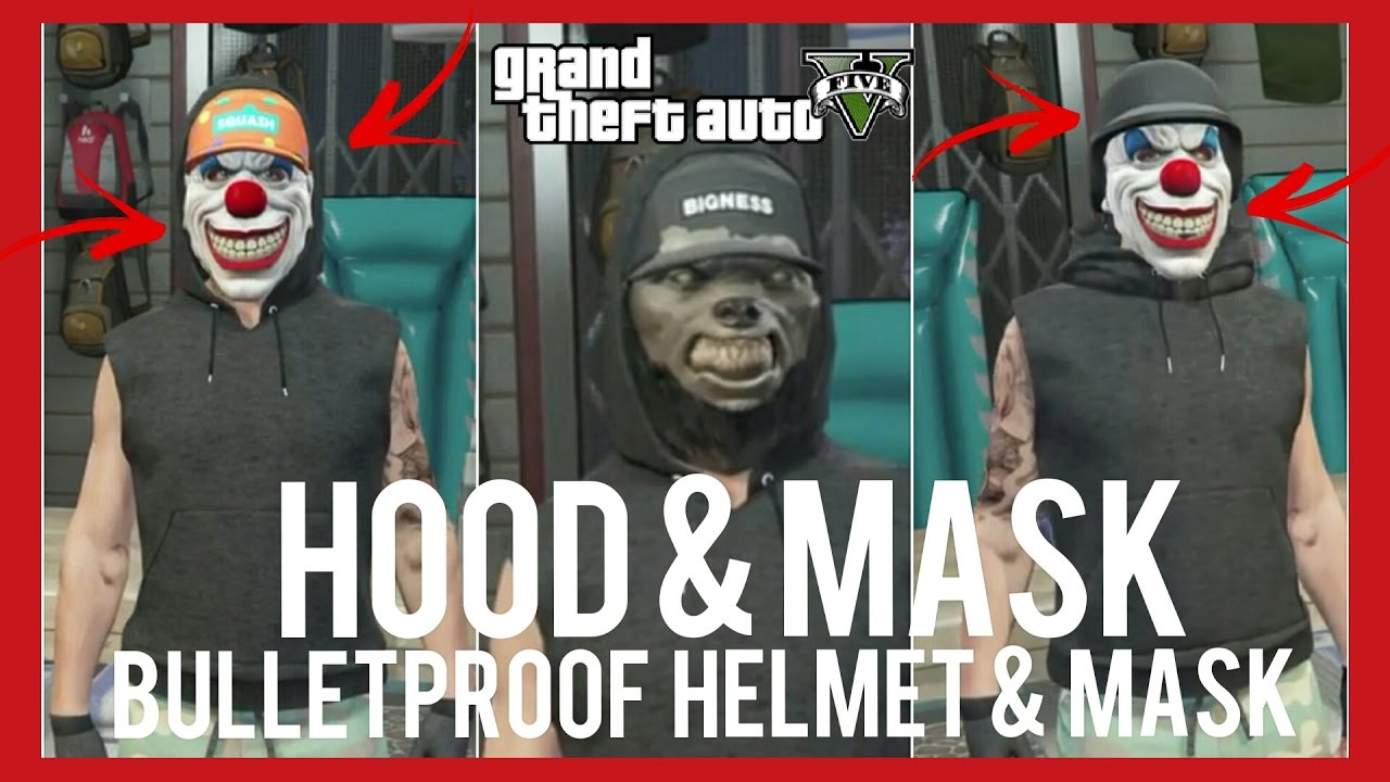 How To Put Hood Up With Any Mask + Bulletproof Helmet & Mask | Glitch | GTA 5 Online Livestream