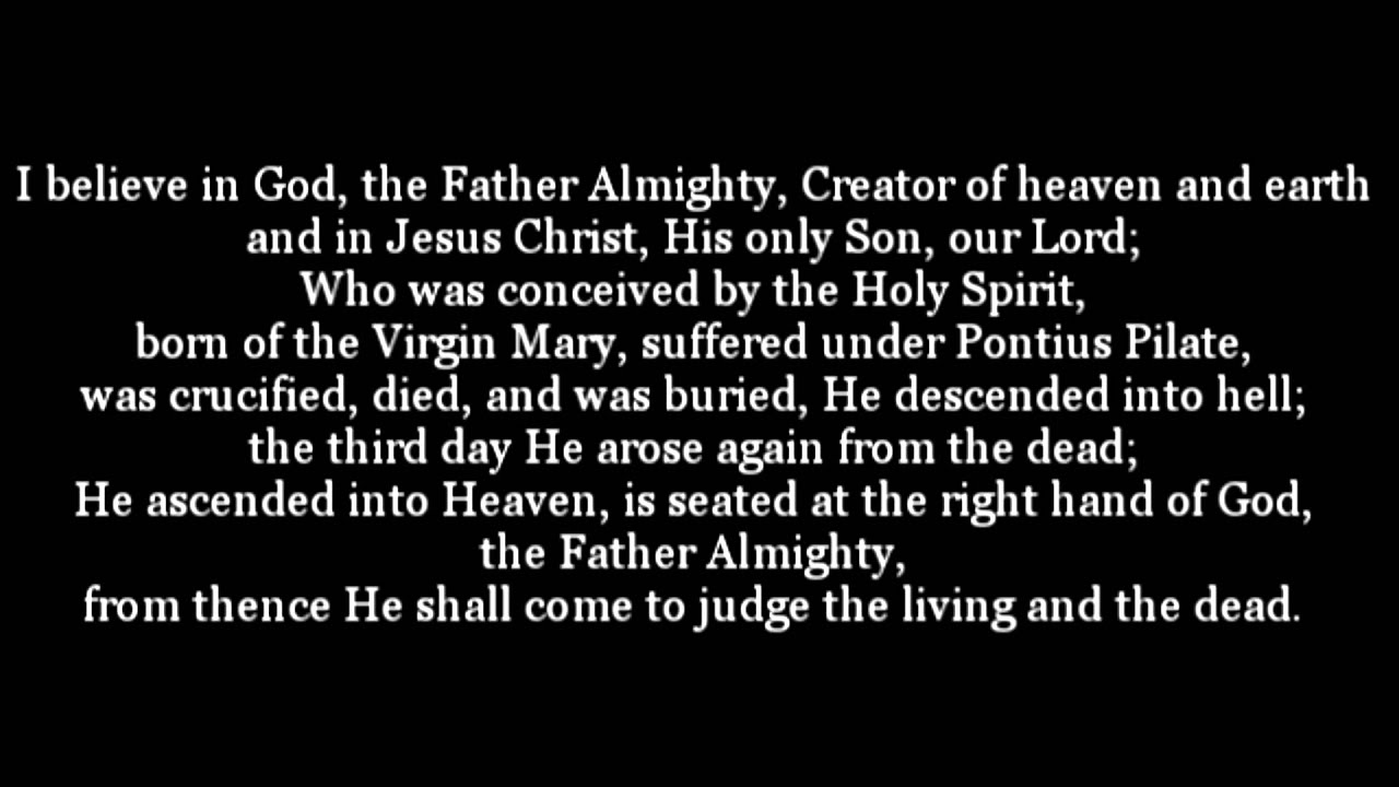 The Apostles Creed- Text and Audio - YouTube